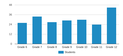 Atlanta Girls' School Student By Grade