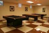 3 pool tables are located in the Jack Vanier Hall recreation center.