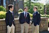 Don Bosco Prep students gather on Founders' Square, which is centrally located on the school's 35- acre campus.