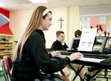 Our junior high students take part in electives classes including piano lessons, drama, pottery, chorus, guitar lessons, field sports, Spanish, and more!