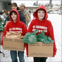 Saint George's students engage in a variety of service projects to reach out to the Spokane community.