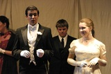 Students on stage in Oscar Wilde's, An Ideal Husband.