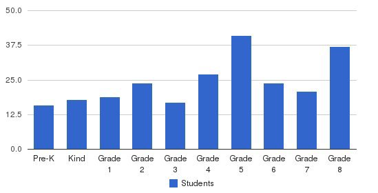 St Michael Elementary School Students by Grade