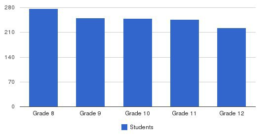 Brother Martin High School Students by Grade