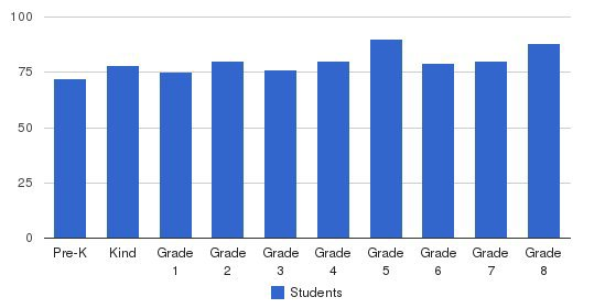 Cathedral Carmel School Students by Grade
