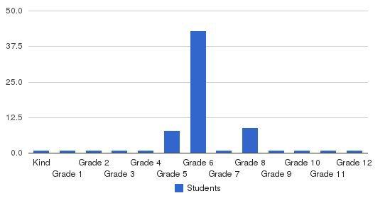 Lisbon Falls Christian Academy Students by Grade