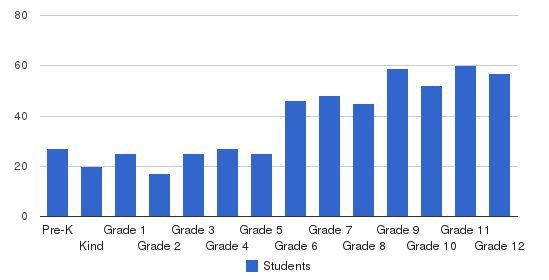Waynflete School Students by Grade
