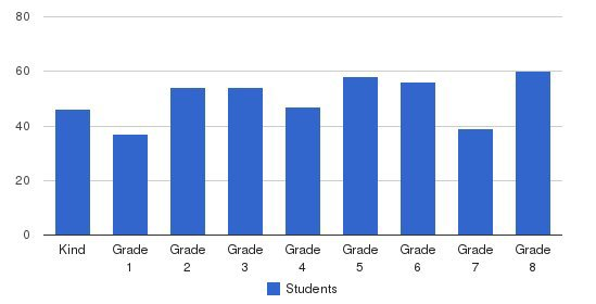 St. Bernadette School Students by Grade