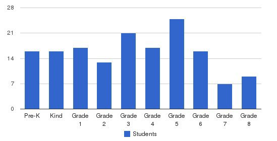 St Agnes Academy Students by Grade
