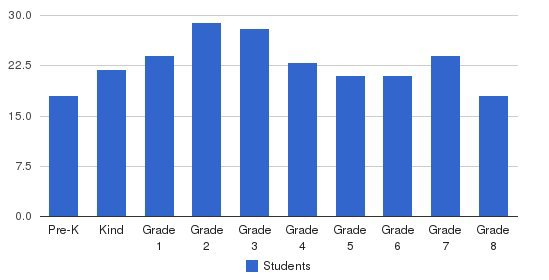 St Patrick School Students by Grade