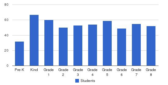 St Pius V School Students by Grade
