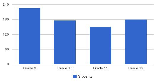 Cathedral High School Students by Grade