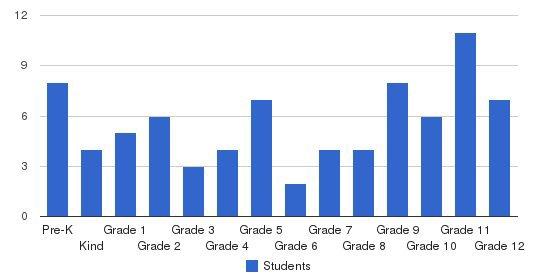Dublin Christian Academy Students by Grade