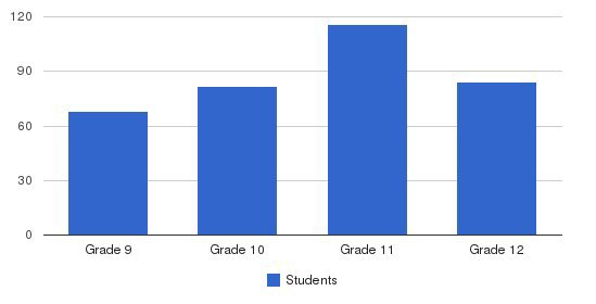 Mt. St. Mary Academy High School Students by Grade