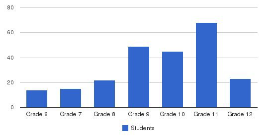 Pioneer Academy Students by Grade