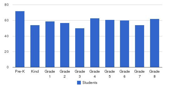 St Dominic School Students by Grade