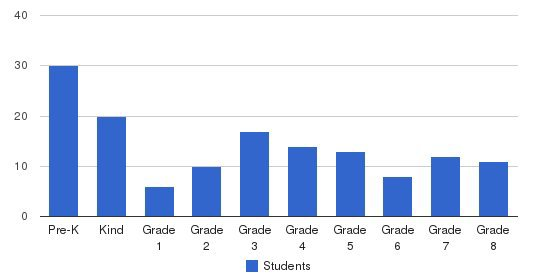 The Academy at Grace and Peace Students by Grade