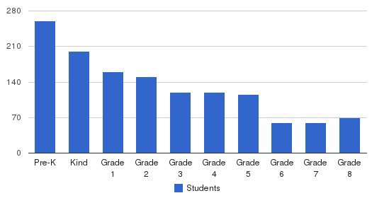 Big Apple Academy Students by Grade