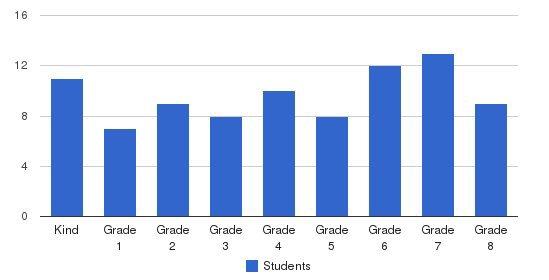 Blue Rock School Students by Grade