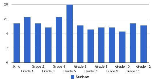 New Vistas Academy Students by Grade