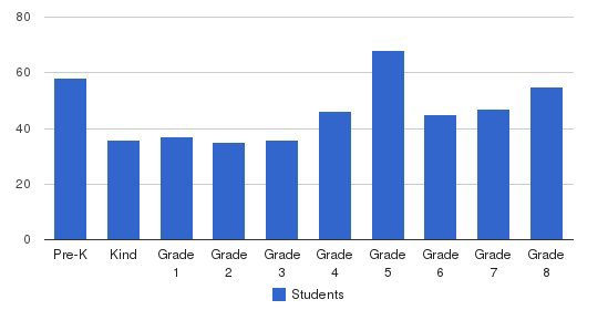 St. Anselm Elementary School Students by Grade