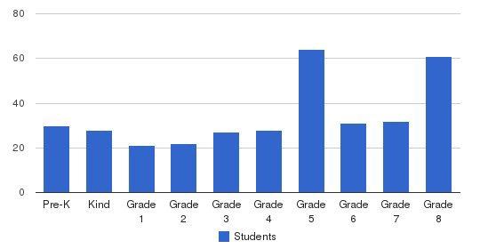 St Brendan School Students by Grade
