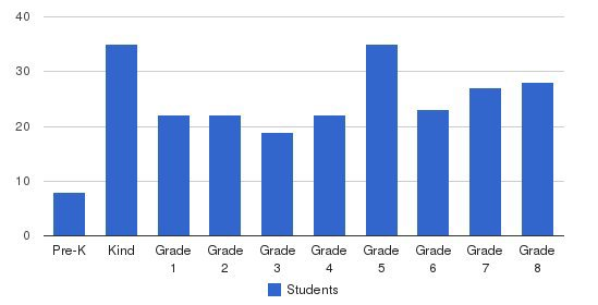 St Brigid School Students by Grade