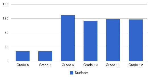 St Joseph Hill Academy High School Students by Grade