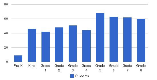 St. Rita Elementary School Students by Grade