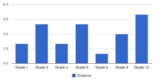 Ambassador Baptist Academy Students by Grade