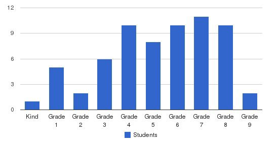 The Piedmont School Students by Grade