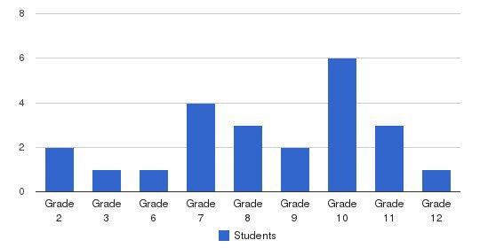 Presbyterian Academy Students by Grade