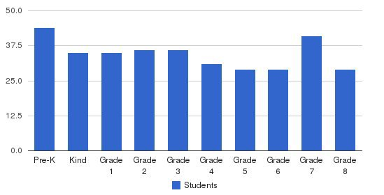 Assumption Academy Students by Grade