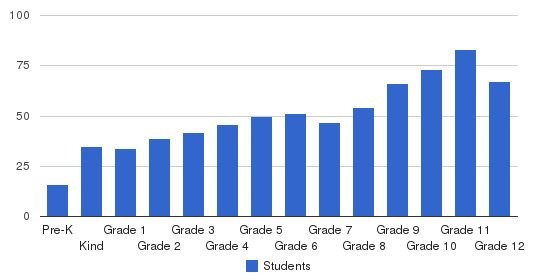Agnes Irwin School Students by Grade
