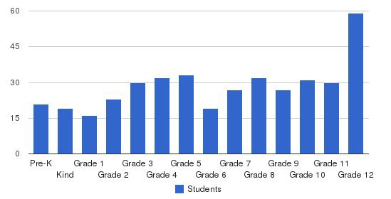 The Ellis School Students by Grade