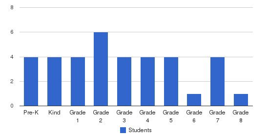 Meadowview Christian Academy Students by Grade
