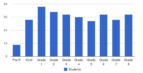 Nativity Bvm Elementary School Students by Grade