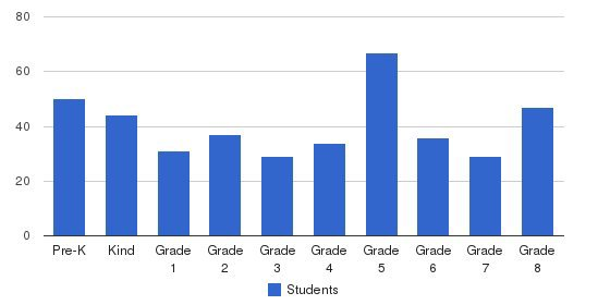 St Theresa Elementary School Students by Grade