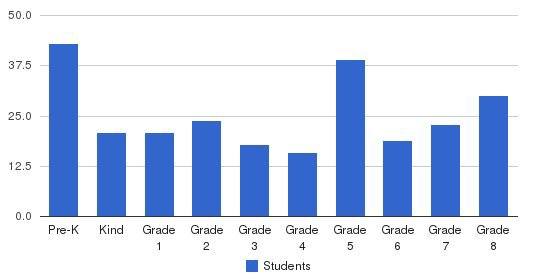 Bishop Mcvinney Elementary School Students by Grade