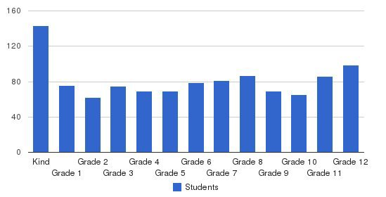 Bob Jones Academy Students by Grade