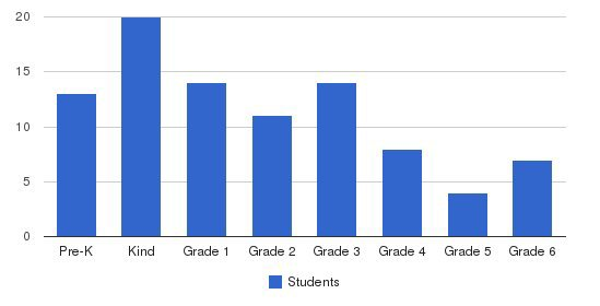 Nashville International Academy Students by Grade