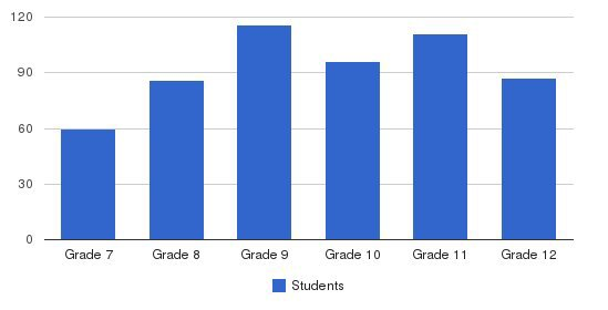 La Reina High School Students by Grade