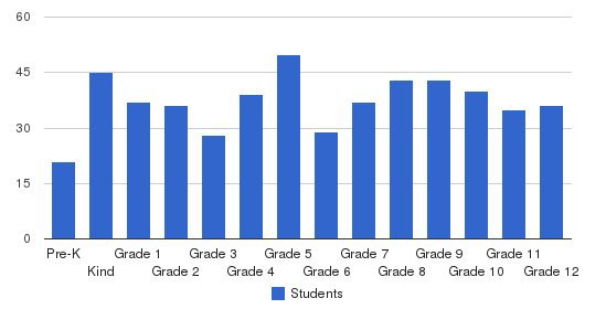 The Woodlands Christian Academy Students by Grade