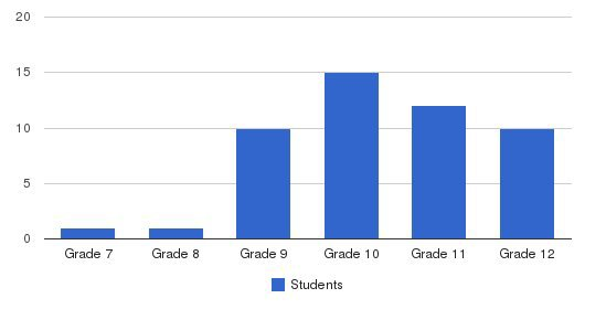 Discovery Academy Students by Grade