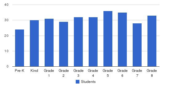 St Vincent School Students by Grade