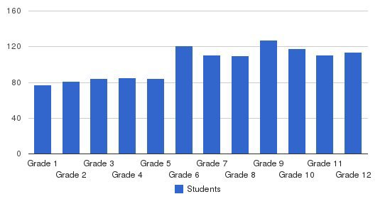 Norfolk Academy Students by Grade