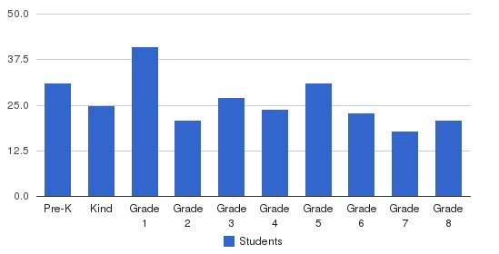 St John Academy Students by Grade
