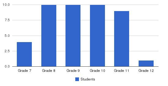 Mountain Lake Academy Students by Grade