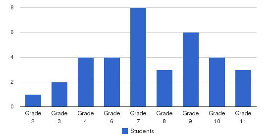 Mountain Youth Academy Students by Grade