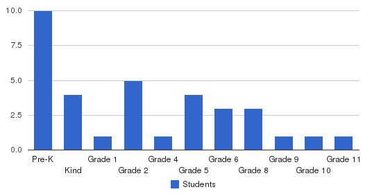 Spurling Christian Academy Students by Grade